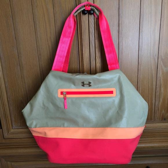 Under Armour Women s Gym Bag Tan Pink EUC! M 5bcf47005c445200d9032976 c5063dc525